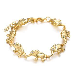 Swarovski Elephant Bracelet with Jewelry Box